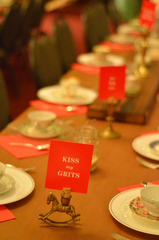 Shindig! table setting